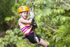 Most kids love ziplining