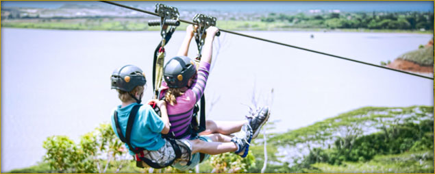 Which Venues Offer Tandem Ziplining?