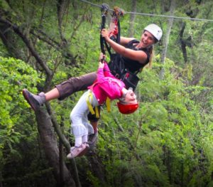 Coral Crater offers tandem ziplining so even the little ones can participate