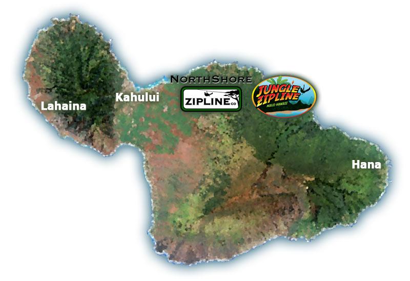 Maui Zipline Map